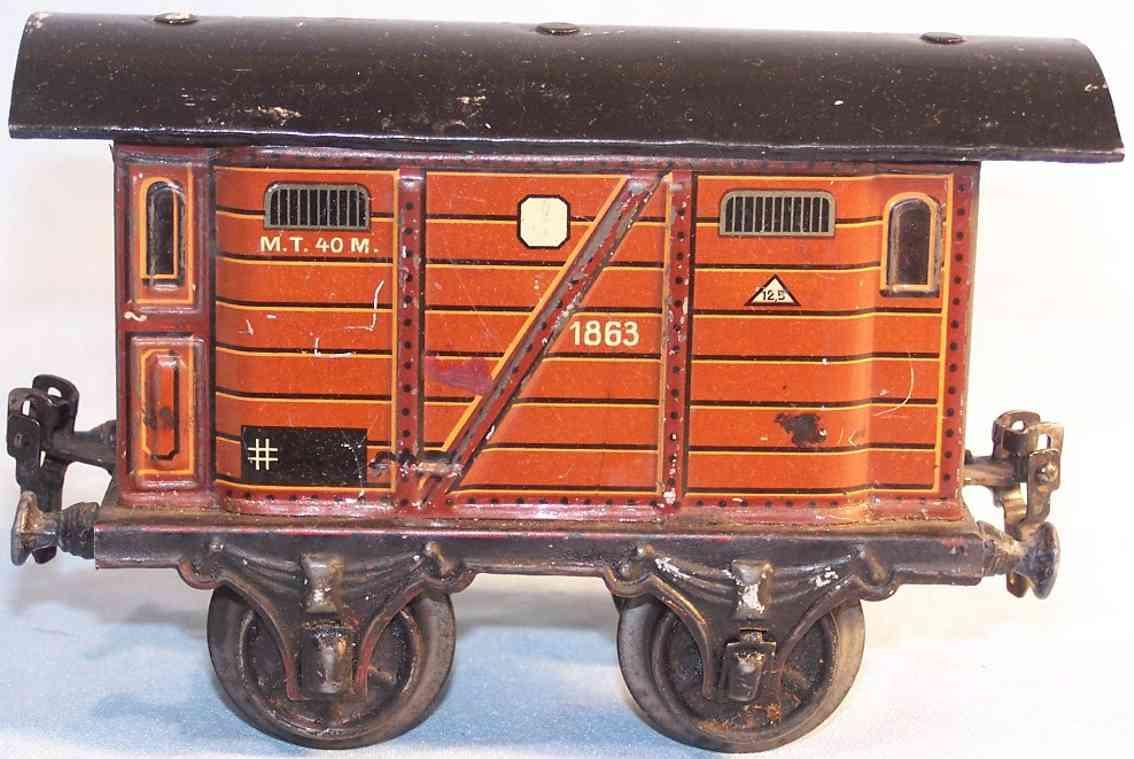 maerklin 1863/1 spielzeug eisenbahn personenwagen gepaeckwagen in braun spur 1