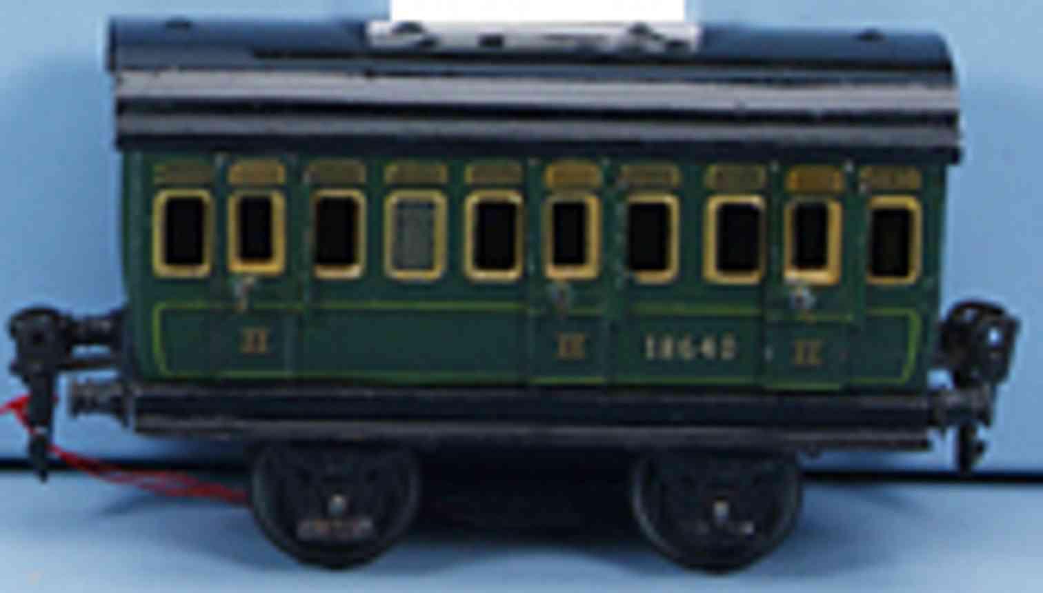 marklin 1864/0 spielzeug eisenbahn personenwagen abteilwagen in gruen spur 0