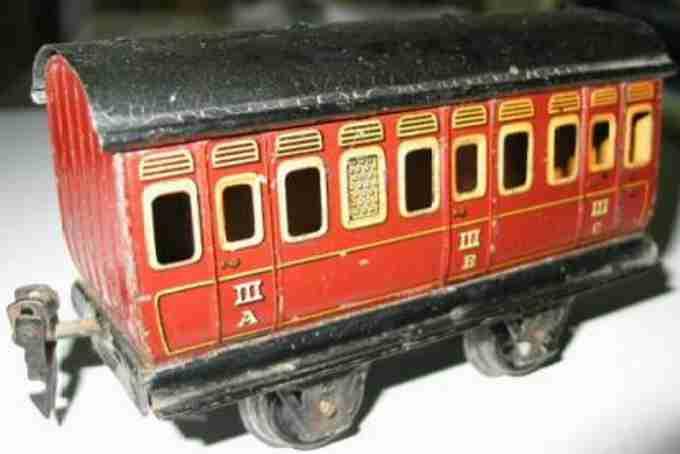 maerklin 1864/0 spielzeug eisenbahn abteilwagen braun spur 0