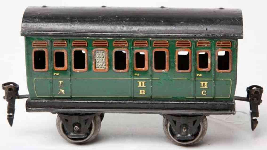marklin maerklin  1864 /0 1910 railway toy compartment car green gauge 0