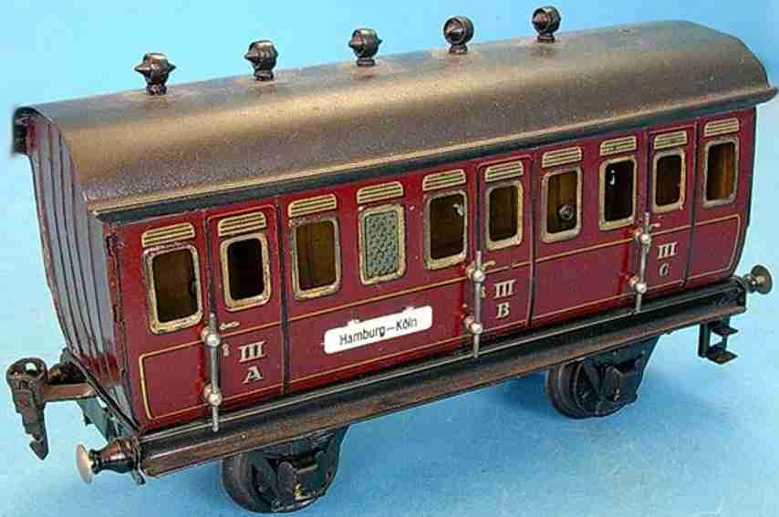 maerklin 1864/1 spielzeug eisenbahn personenwagen braun spur 1