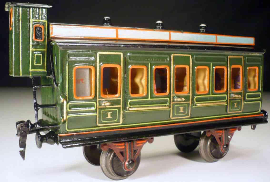 maerklin 1866/1 spielzeug eisenbahn personenwagen abteilwagen gruen spur 1