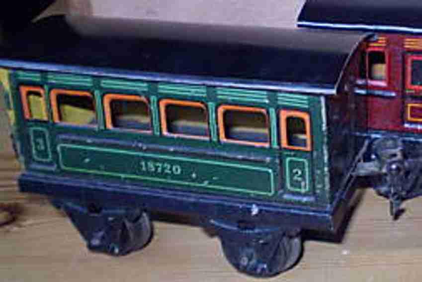 maerklin 1872/0 spielzeug eisenbahn personenwagen blaugruen spur 0