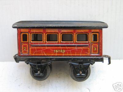 maerklin 1872/0 spielzeug eisenbahn personenwagen rotbraun spur 0