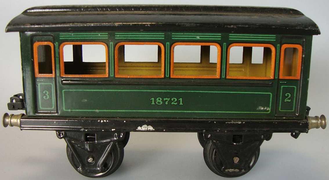 maerklin 1872/1 spielzeug eisenbahn personenwagen gruen spur 1