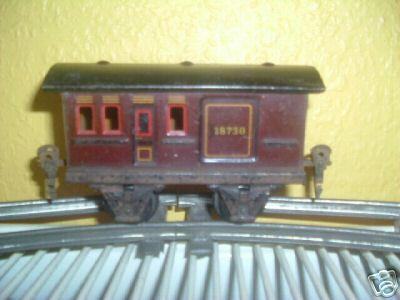 maerklin 1873/0 spielzeug eisenbahn gepaeckwagen rotbraun spur 0