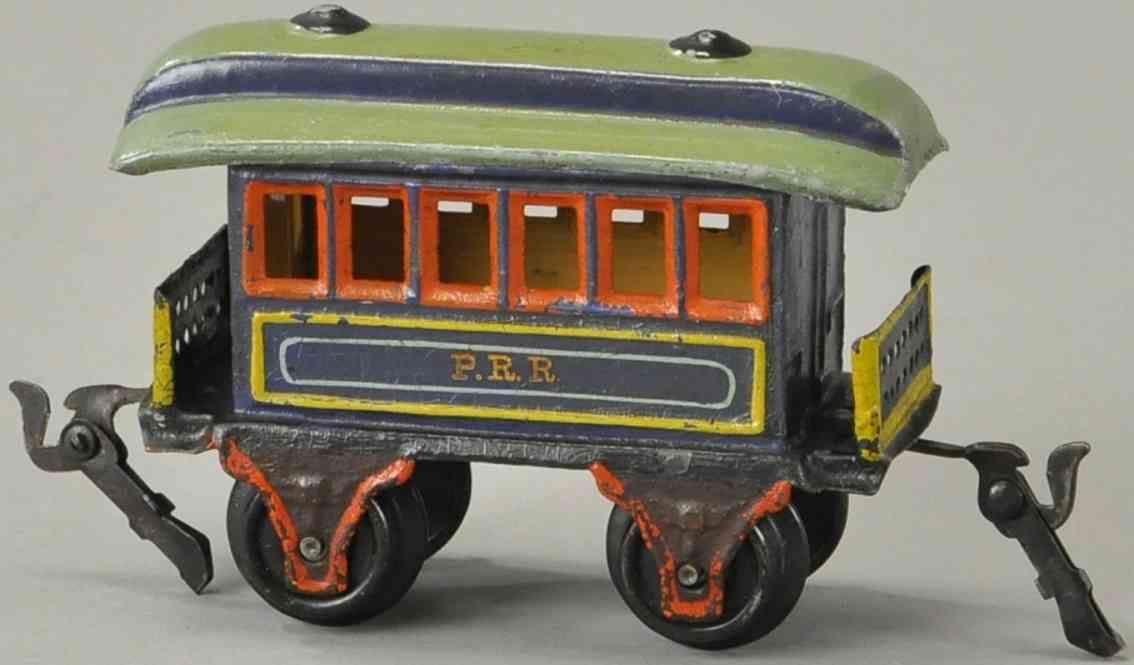 maerklin 1873/0 prr eisenbahn amerikanischer personenwagen blau spur 0