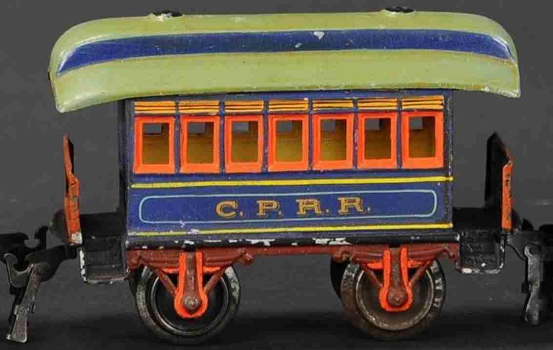 maerklin 1873/0 cprr eisenbahn amerikanischer personenwagen blau spur 0