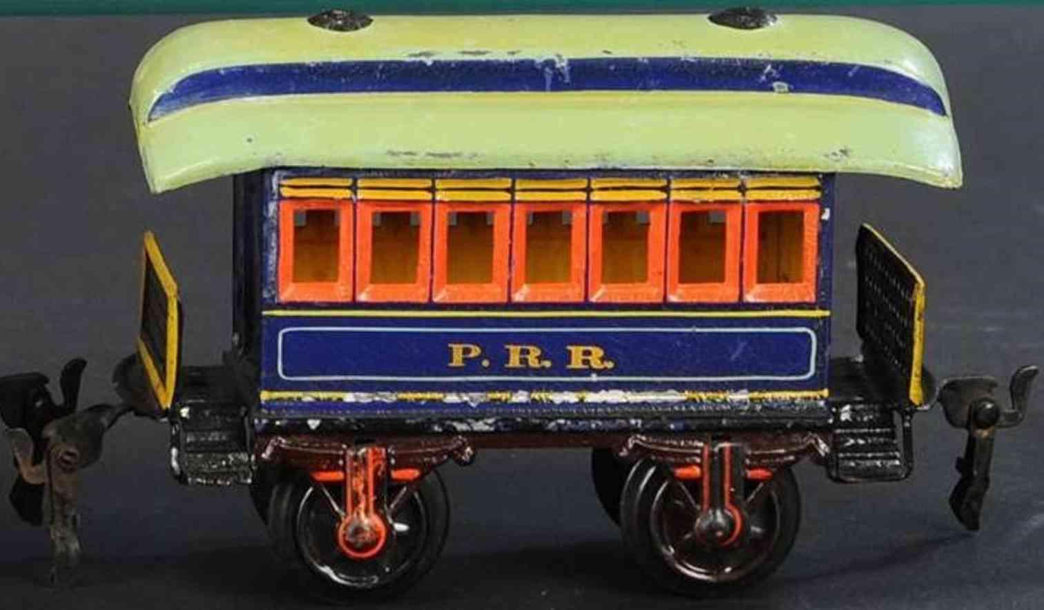 maerklin 1873/1 prr eisenbahn amerikanischer personenwagen blau spur 1
