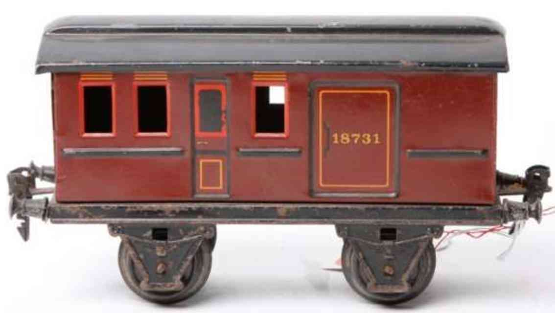 maerklin 1873/1 spielzeug eisenbahn gepaeckwagen rotbraun spur 1