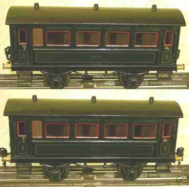 maerklin 1874/1 spielzeug eisenbahn personenwagen gruen spur 1