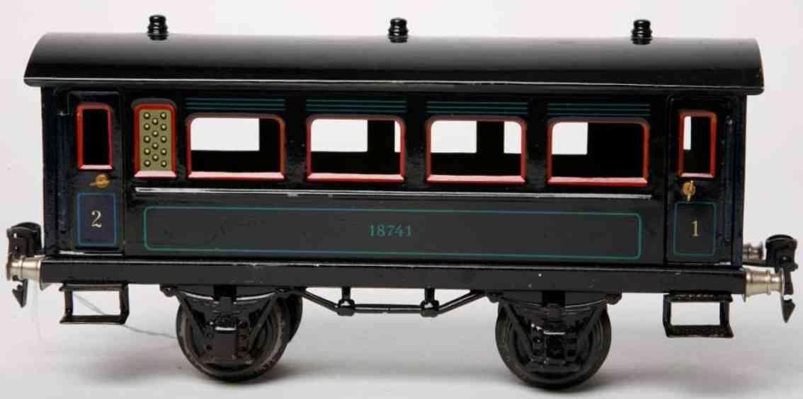 maerklin 1874/1 spielzeug eisenbahn personenwagen blau spur 1