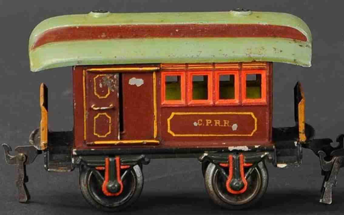 maerklin 1875/0 cprr spielzeug eisenbahn gepaeckwagen braun spur 0
