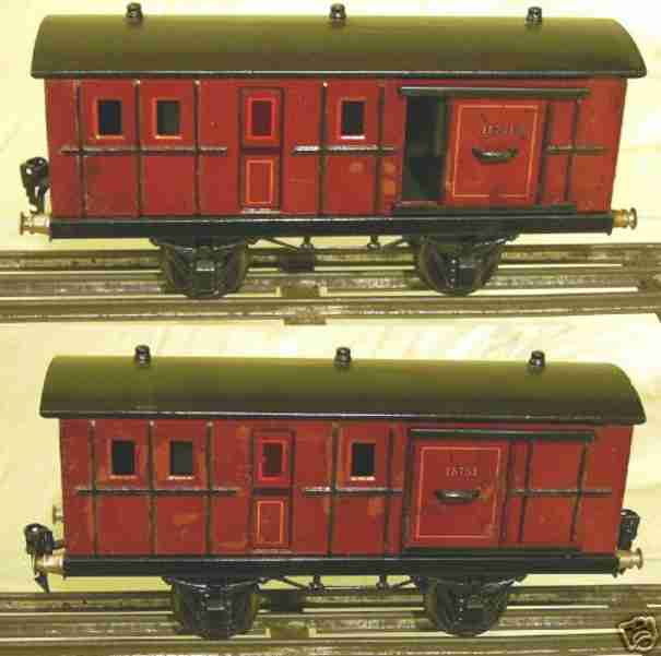 maerklin 1875/1 spielzeug eisenbahn personenwagen rotbraun spur 1