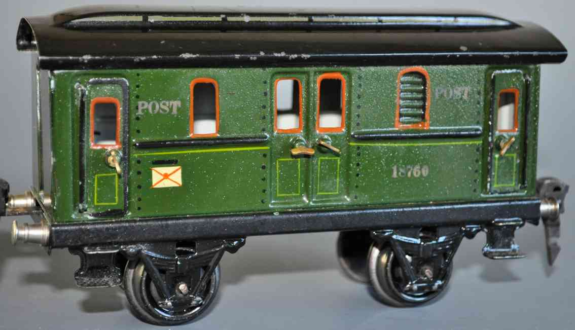maerklin 1876/0 spielzeug eisenbahn postwagen spur 0