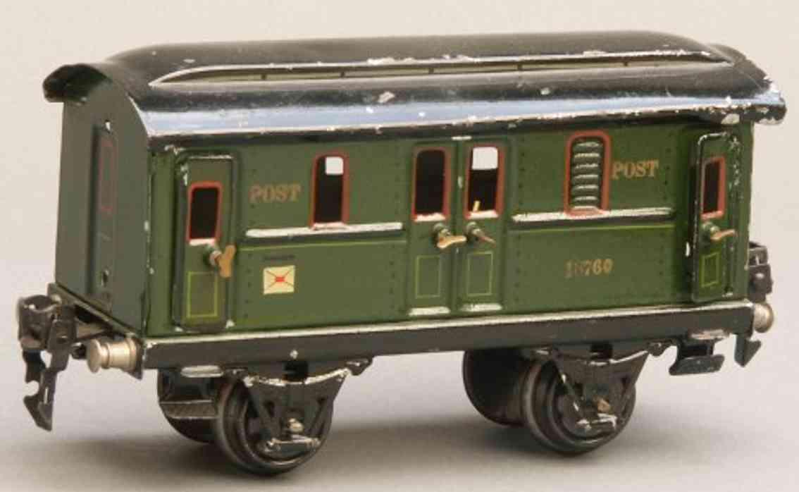 maerklin 1876/0 spielzeug eisenbahn postwagen post spur 0