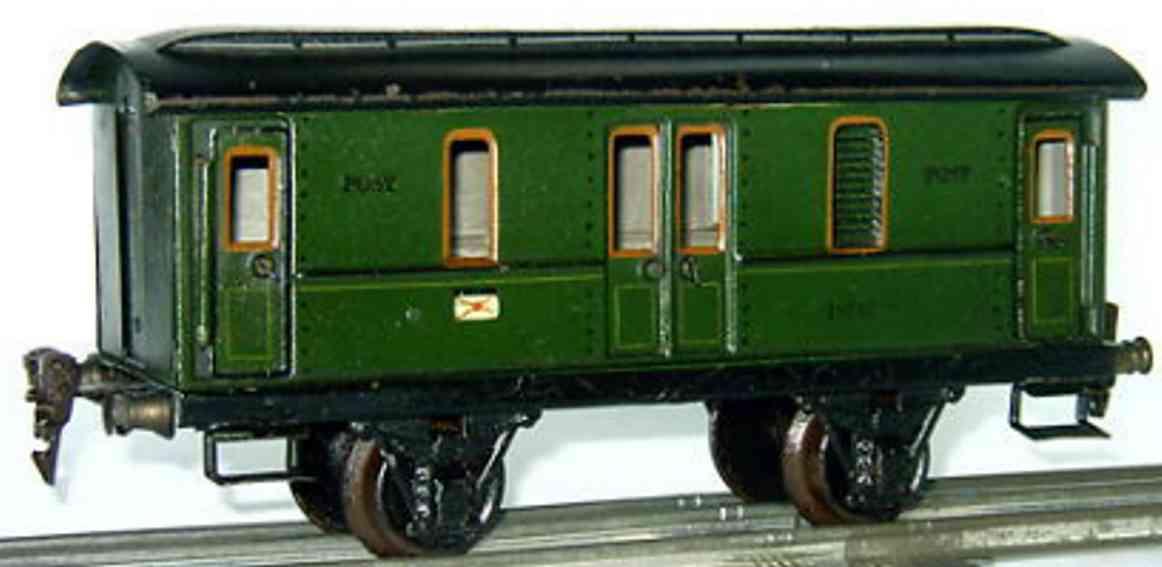 maerklin 1876/1 spielzeug eisenbahn postwagen gruen spur 1