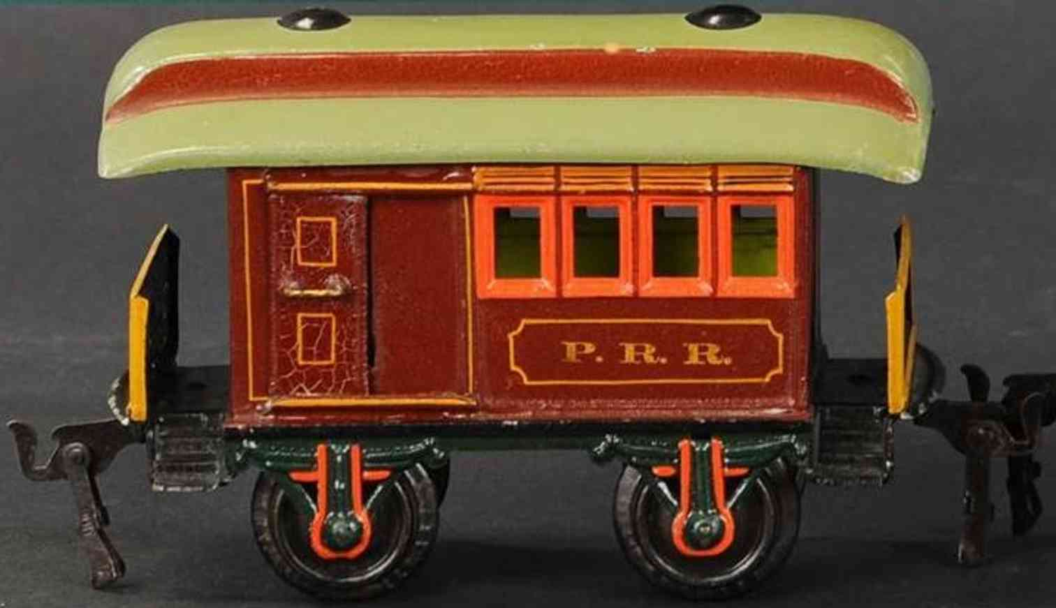 marklin maerklin 1876/1 prr railway toy baggage car brown gauge 1