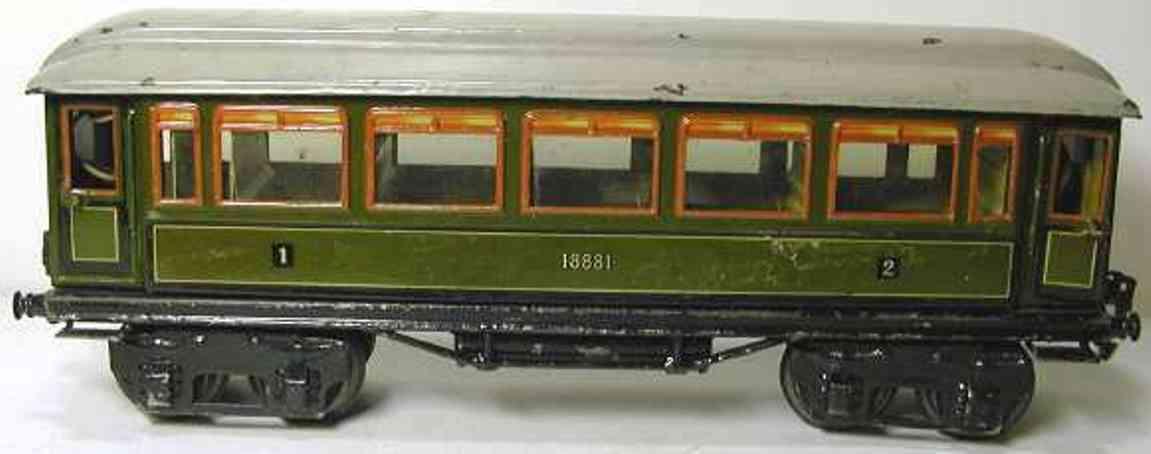 maerklin 1881/1 spielzeug eisenbahn personenwagen gruen spur 1
