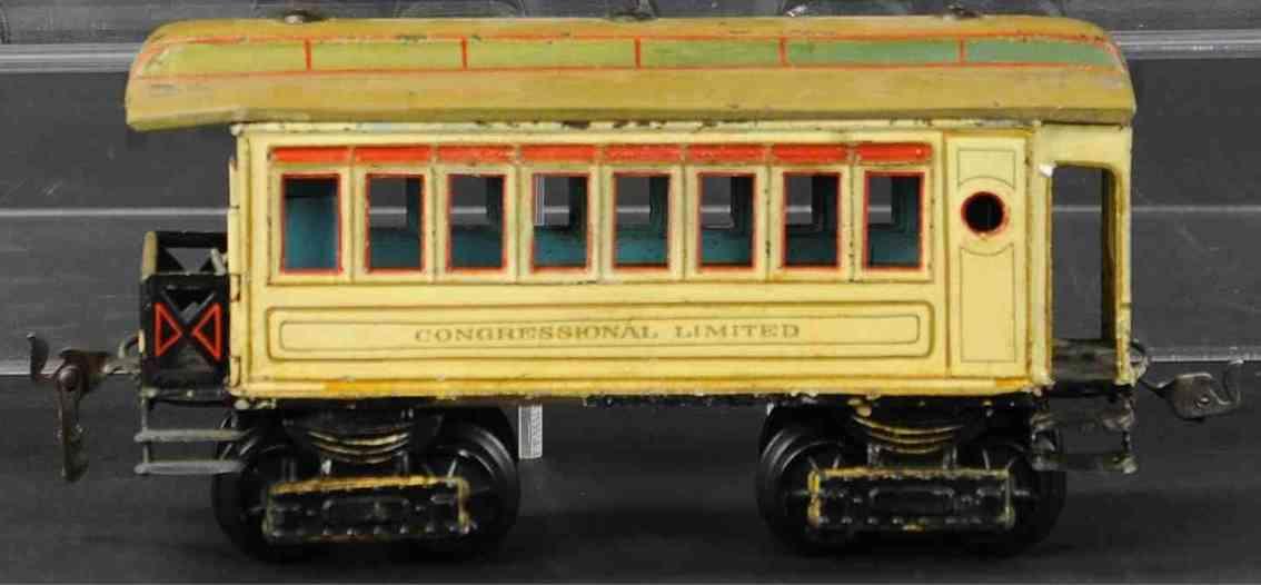 maerklin 1882/1 spielzeug eisenbahn personenwagen creme congressional limited spur 1