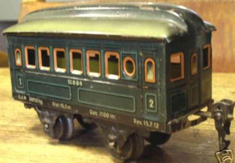 maerklin 1884/0 t spielzeug eisenbahn personenwagen blaugruen spur 0