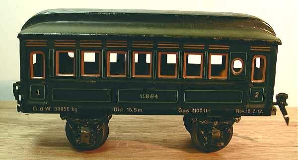 maerklin 1884/1 spielzeug eisenbahn personenwagen blaugruen spur 1