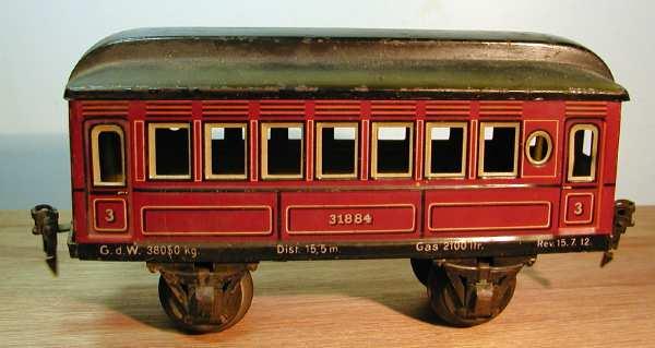 maerklin 1884/1 t spielzeug eisenbahn personenwagen rotbraun spur 1