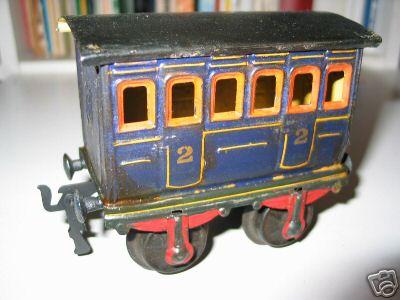 maerklin 1855/1 spielzeug eisenbahn personenwagen abteilwagen blau spur 1