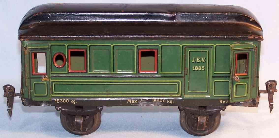 maerklin 1885/1 spielzeug eisenbahn gepaeckwagen gruen schwarz spur 1