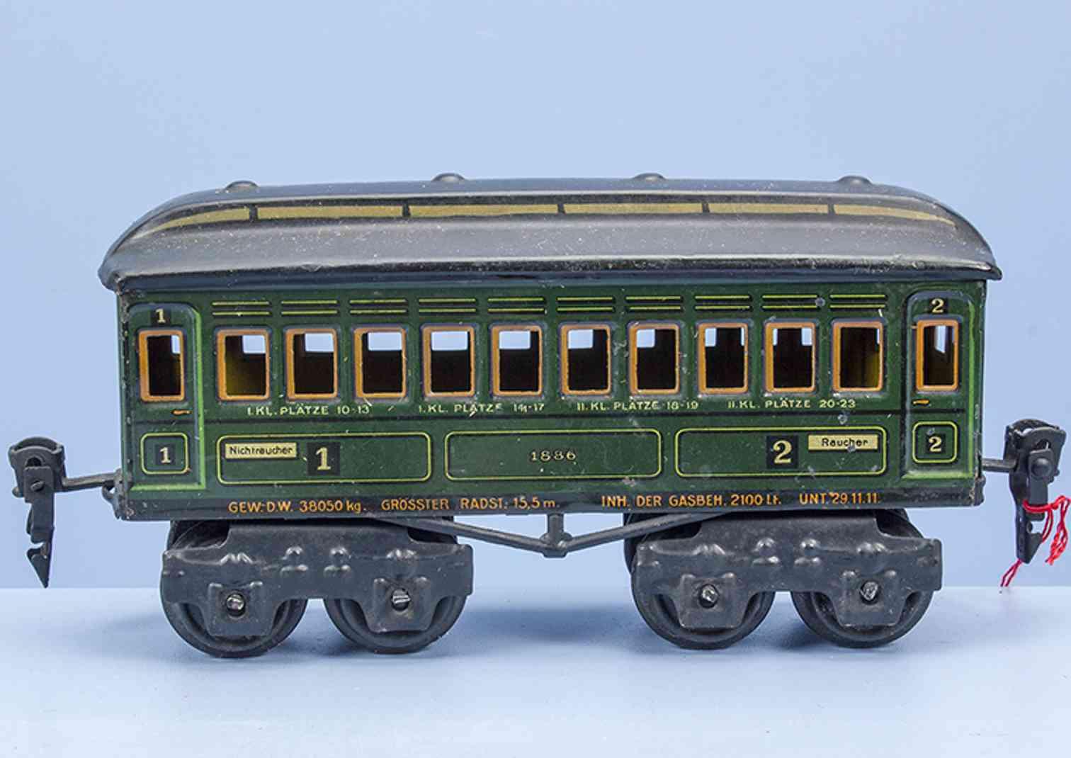 maerklin 1886/0 p 1915 spielzeug eisenbahn personenwagen spur 0