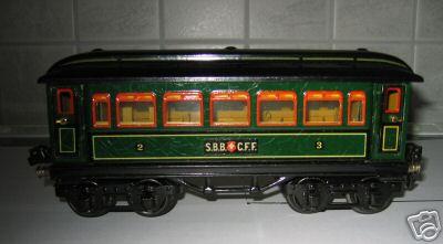 maerklin 1886/0 p spielzeug eisenbahn personenwagen gruen spur 0