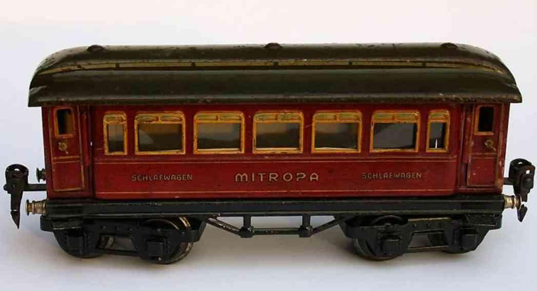 maerklin 1886/0 sch spielzeug eisenbahn schlafwagen rot spur 0