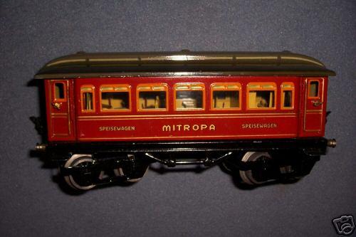 maerklin 1886/0 sp spielzeug eisenbahn speisewagen mitropa-rot spur 0