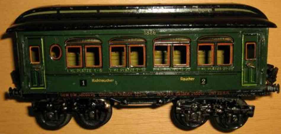 maerklin 1886/0 t/p spielzeug eisenbahn personenwagen gruen spur 0