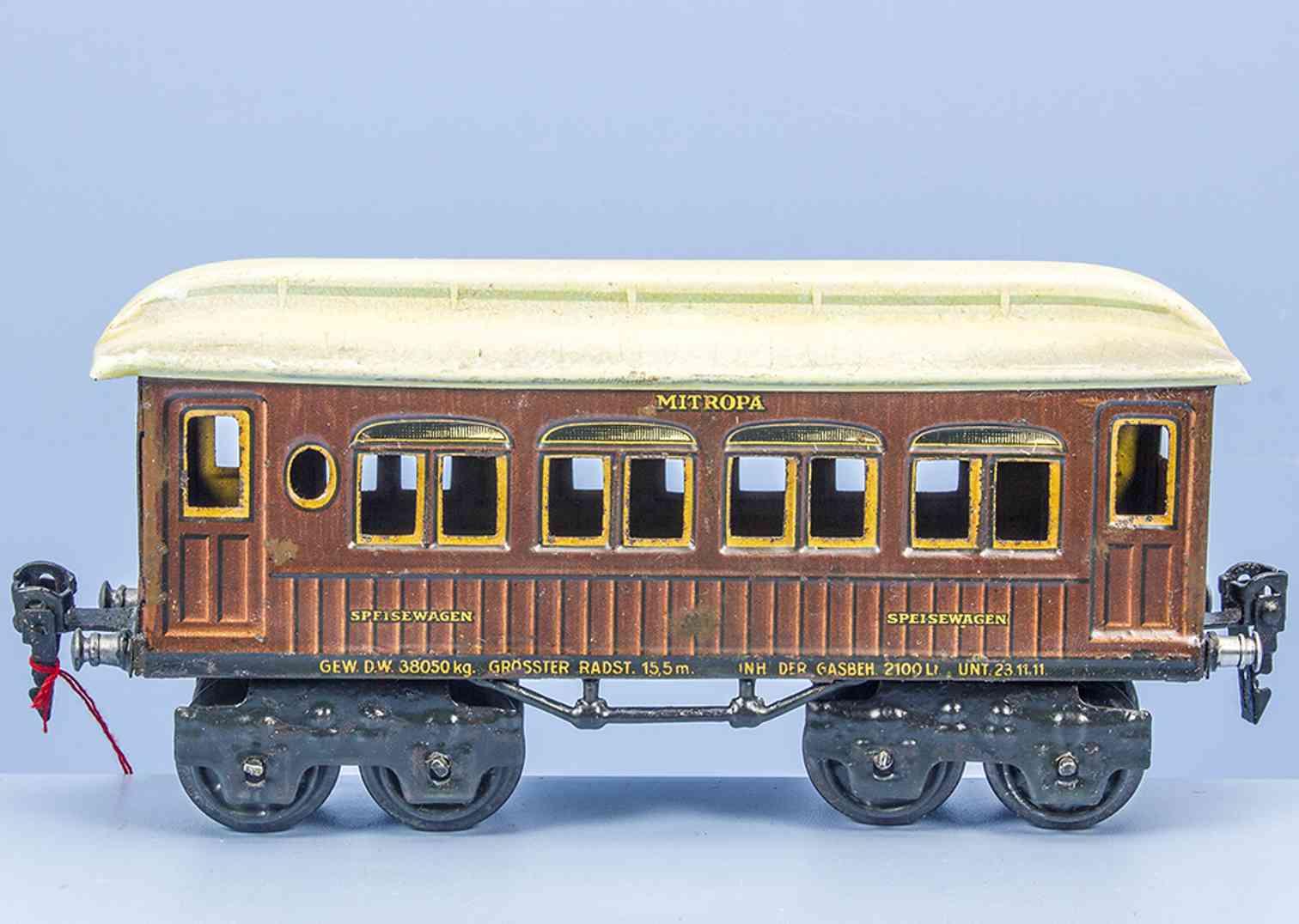 marklin maerklin 1886/0 sp 1925 railway toy mitropa dining car teak brown gauge 0
