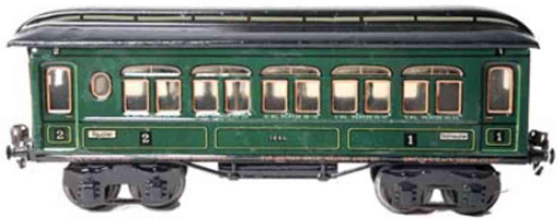 maerklin 1886/1 p spielzeug eisenbahn personenwagen gruen spur 1