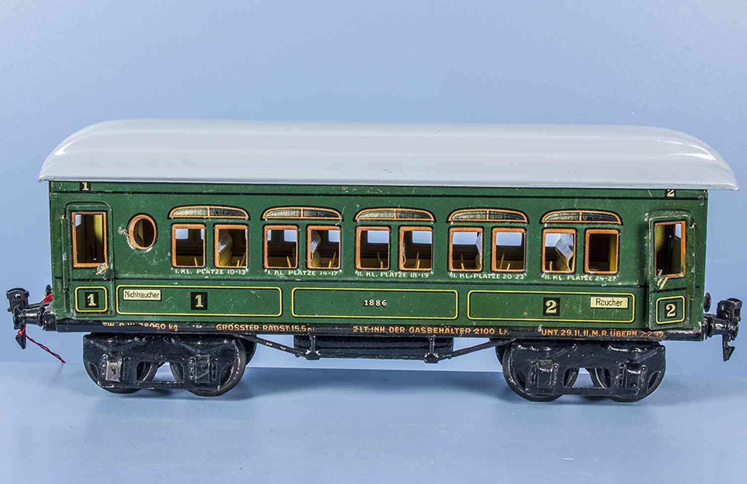 maerklin 1886/1 t/p spielzeug eisenbahn personenwagen spur 1