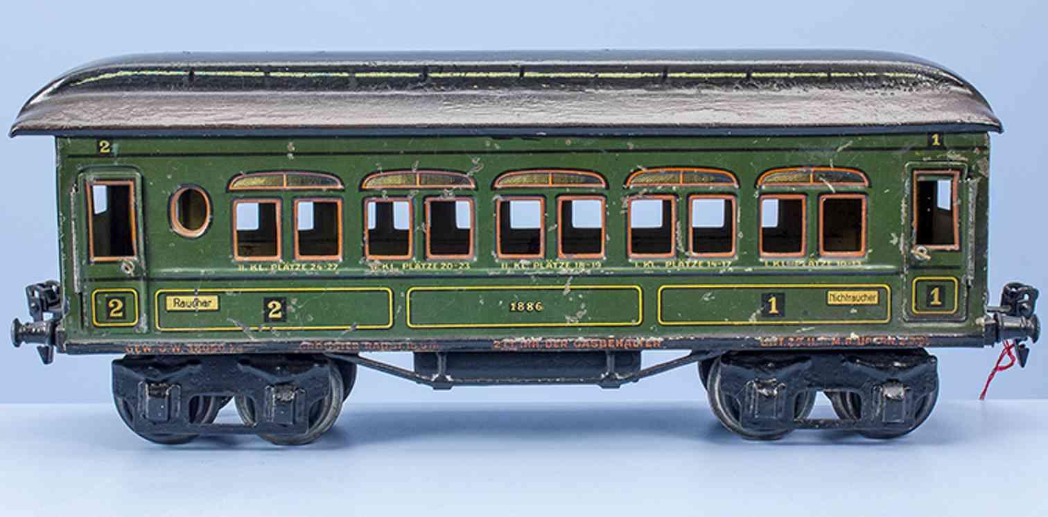 marklin maerklin 1886/1 t/p railway toy passenger car  gauge 1