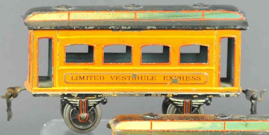 marklin maerklin 1886/1 parlor car yellow-orange limited vestibule express gauge 1