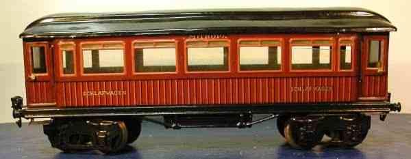 maerklin 1886/1 t/sch spielzeug eisenbahn schlafwagen teakbraun spur 1