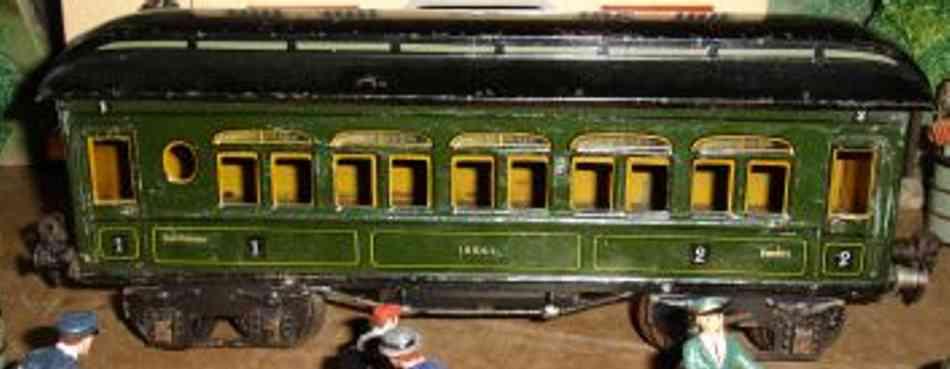 maerklin 1886/1 p spielzeug eisenbahn franzoesischer personenwagen gruen spur 1