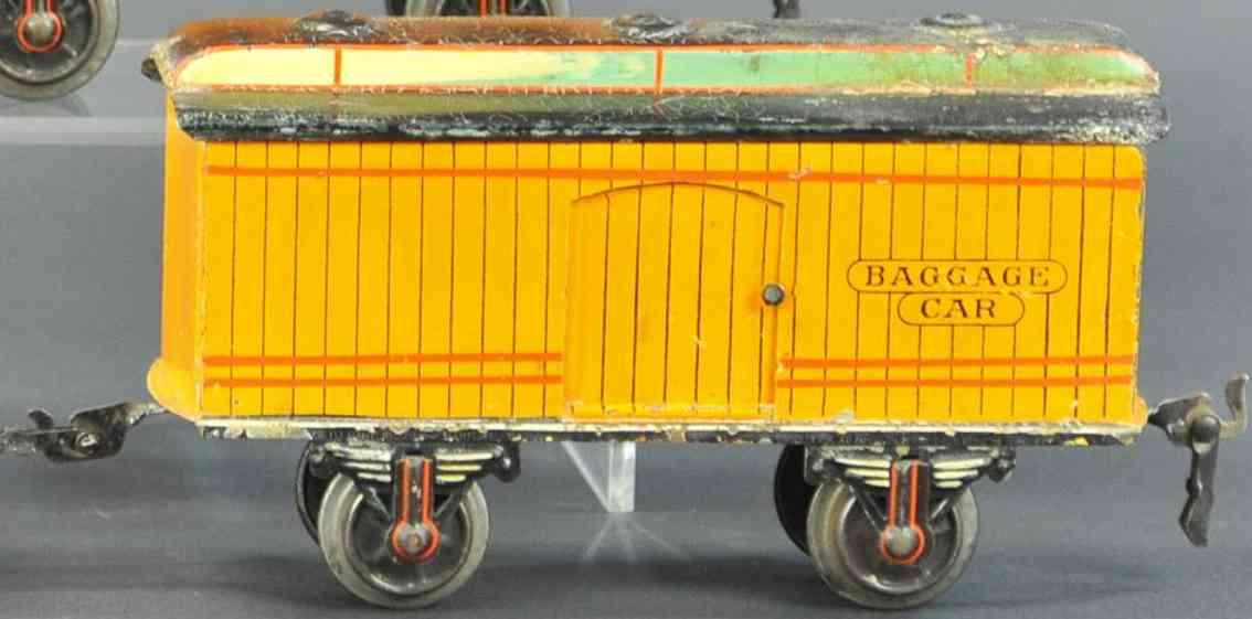 marklin maerklin 1887/1 baggage car yellow-orange gauge 1