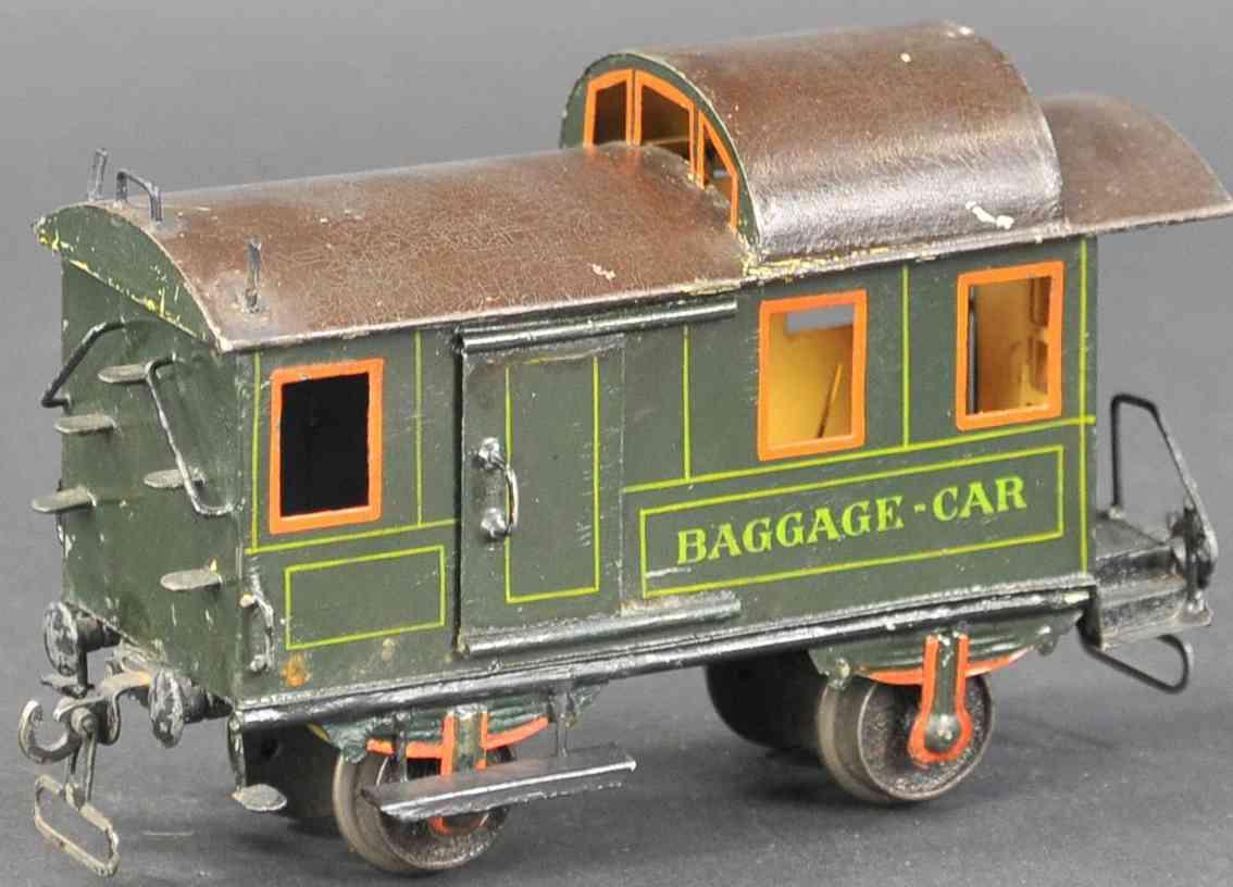 marklin 1887/I railway toy baggage car green black gauge 1
