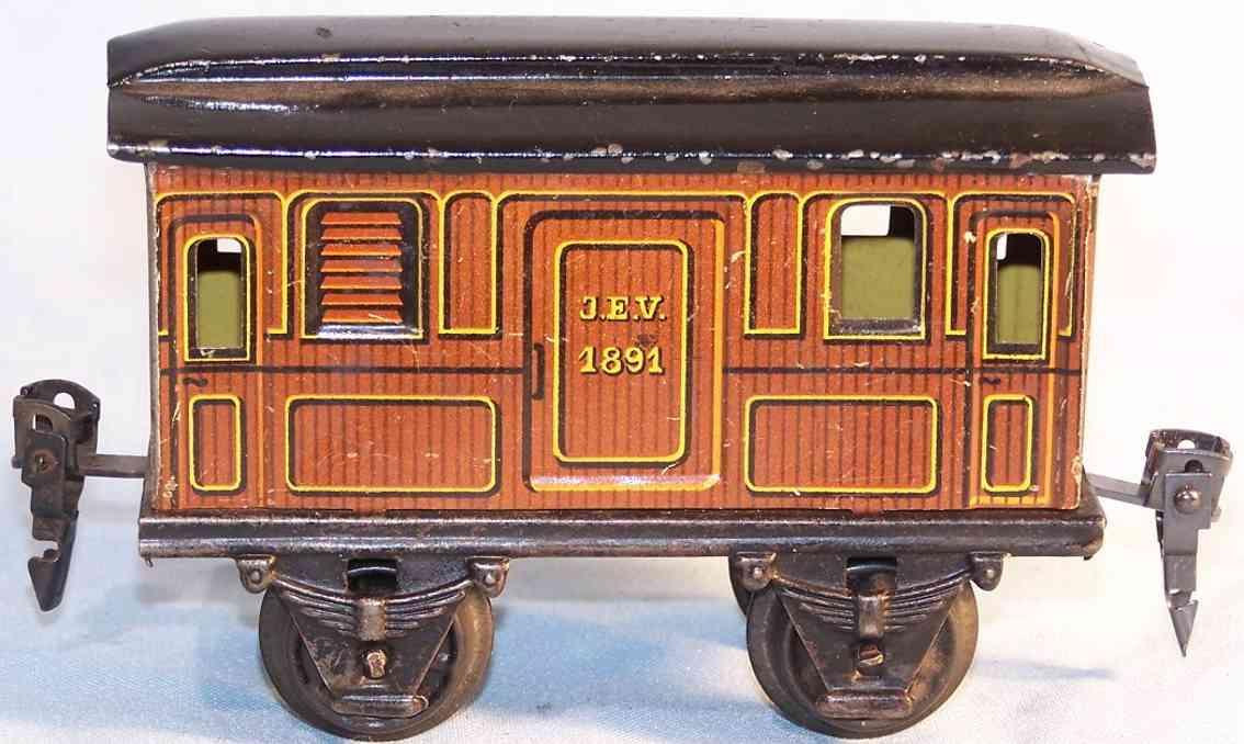 maerklin 1891/0 spielzeug eisenbahn gepaeckwagen braun spur 0