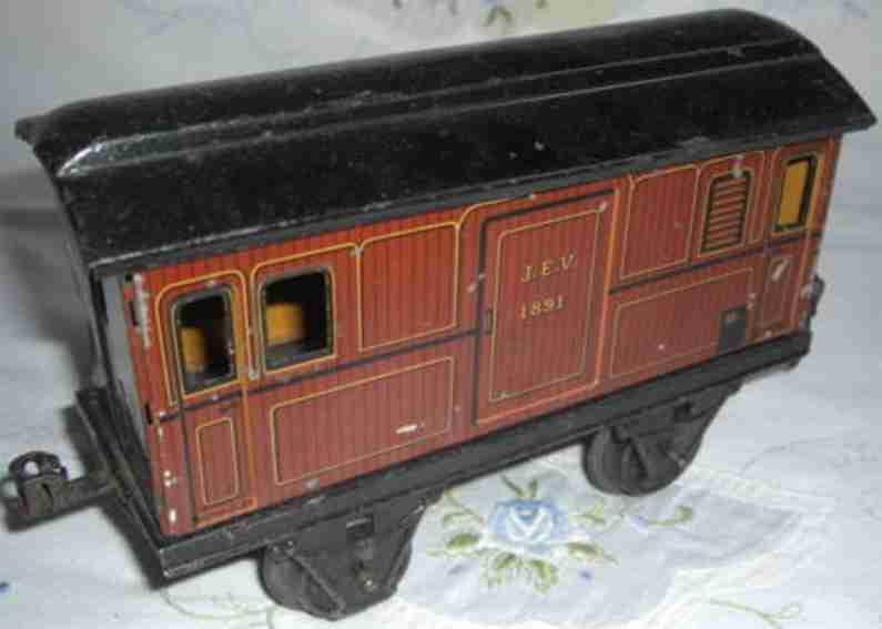 maerklin 1891/1 spielzeug eisenbahn gepaeckwagen spur 0