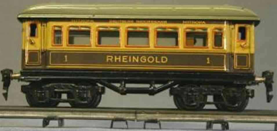 maerklin 1894/0 g rheingoldwagen inneneinrichtung violett creme spur 0