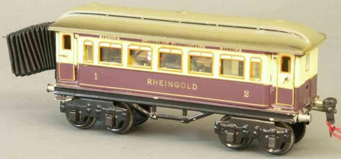 maerklin 1894/0 g rheingoldwagen violett elfenbein spur 0