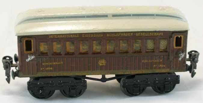 maerklin 1894/0 sch spielzeug eisenbahn schlafwagen teakbraun spur 0