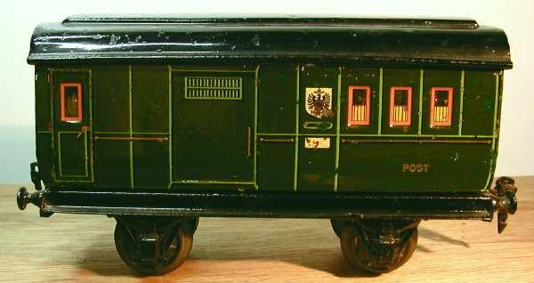 maerklin 1899/0 spielzeug eisenbahn post- und gepaeckwagen gruen spur 0