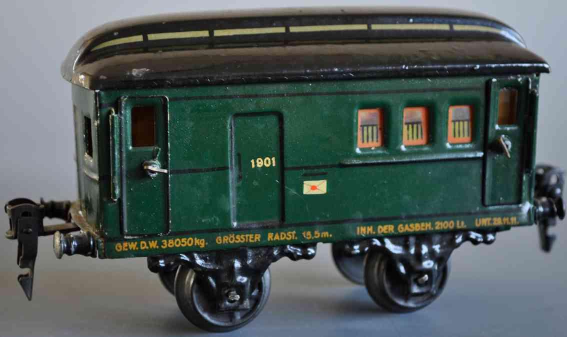 maerklin 1901/0 spielzeug eisenbahn postwagen spur 0